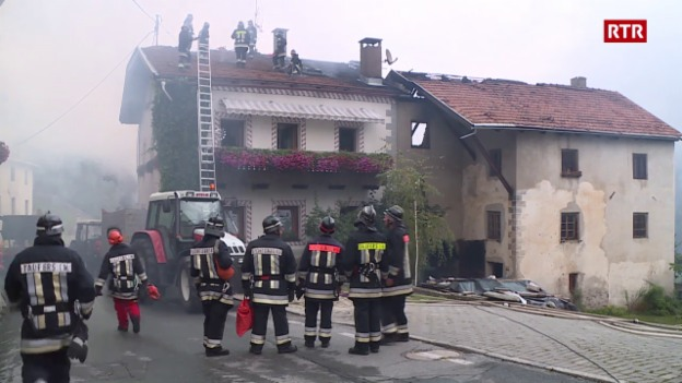 Laschar ir video «Grond incendi a Tuer en Val Müstair»