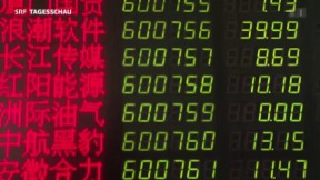 Video «Neuer Kursrutsch an Chinas Börsen» abspielen
