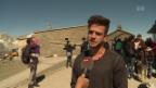 Video «Schmetterlingskinder erklimmen mit Luca Hänni den Gornergrat» abspielen