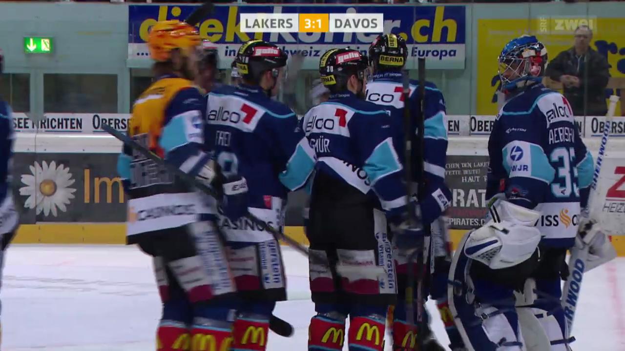 Eishockey: NLA, Lakers-Davos