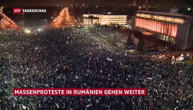 Video «Proteste in Rumänien» abspielen