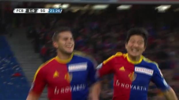 Video «Bobadillas 2 Tore für den FC Basel» abspielen