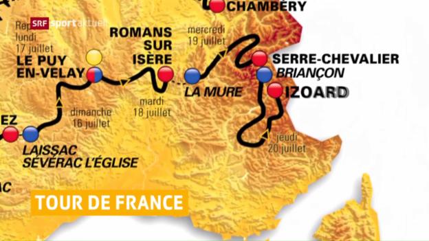 Video «Streckenprofil der Tour de France 2017 vorgestellt» abspielen
