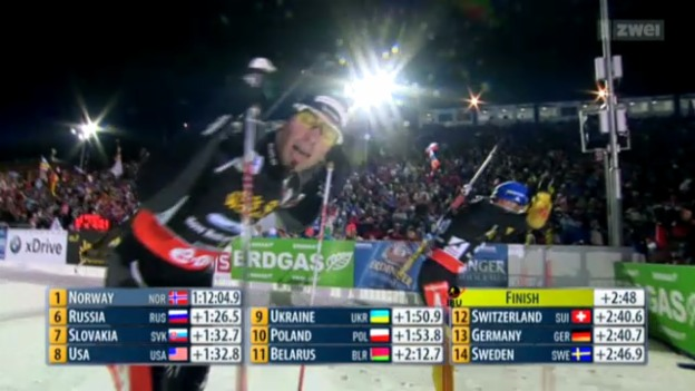 Video «Biathlon-WM: Mixed-Staffel» abspielen