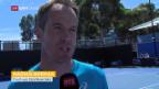 Video «Federer vs. Wawrinka: Die Coaches vor dem Duell ihrer Schützlinge» abspielen
