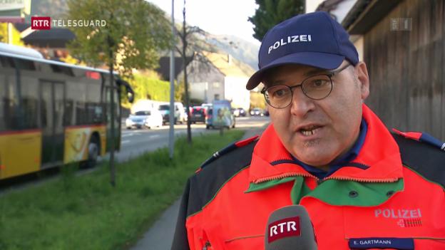 Laschar ir video «Numnasontga a Cuira - polizia vul impedir caos da traffic»