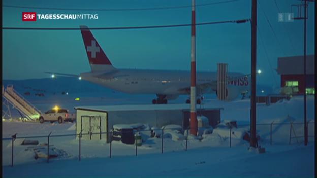 Video «Swiss-Maschine muss in Arktis zwischenlanden» abspielen