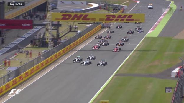 Video «Formel 1: GP Grossbritannien, die Startphase» abspielen
