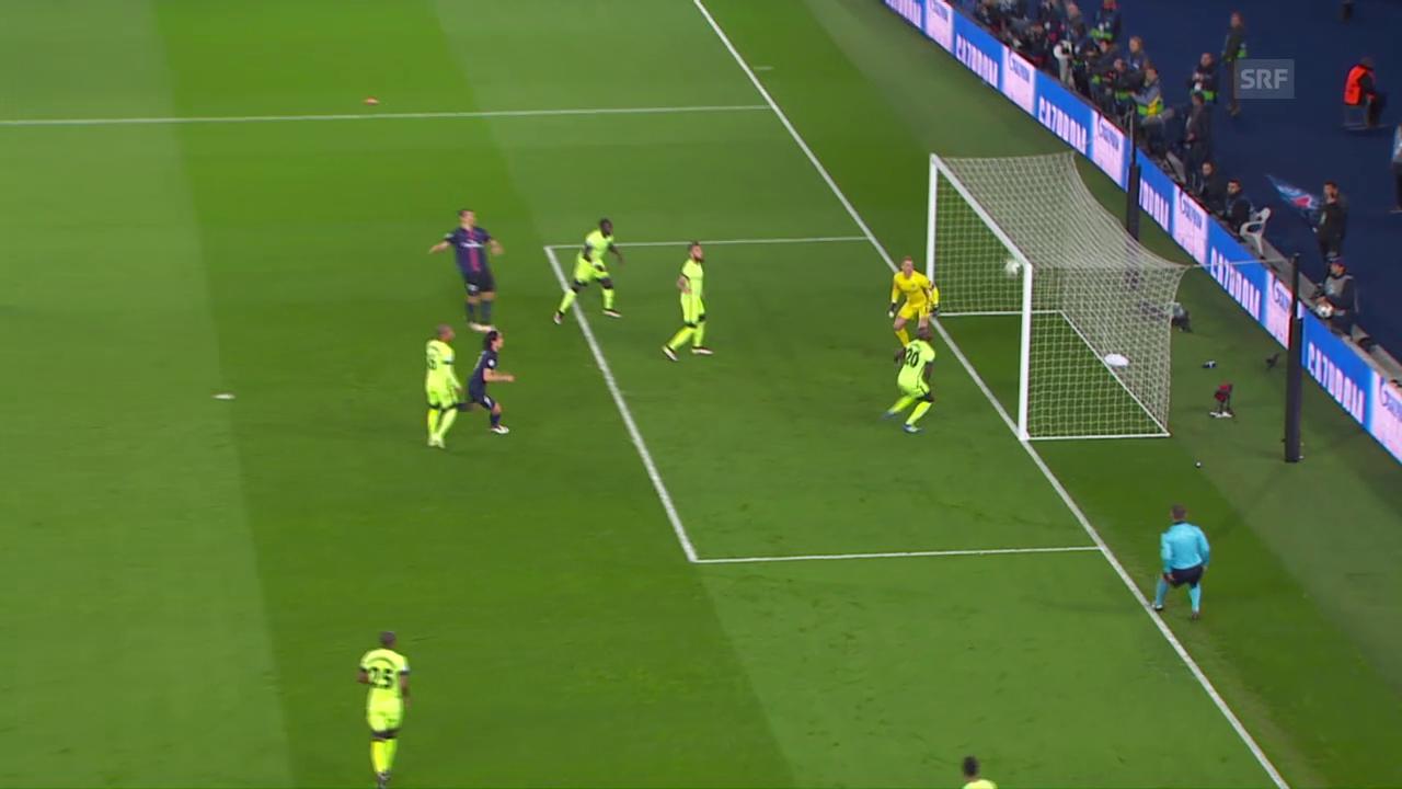 Ibrahimovics Kopfball landet im CL-Viertelfinal gegen Manchester City an der Lattenunterkante