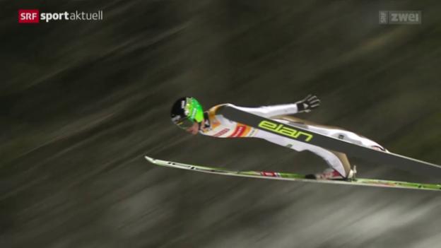 Video «Skispringen: Weltcup in Trondheim» abspielen