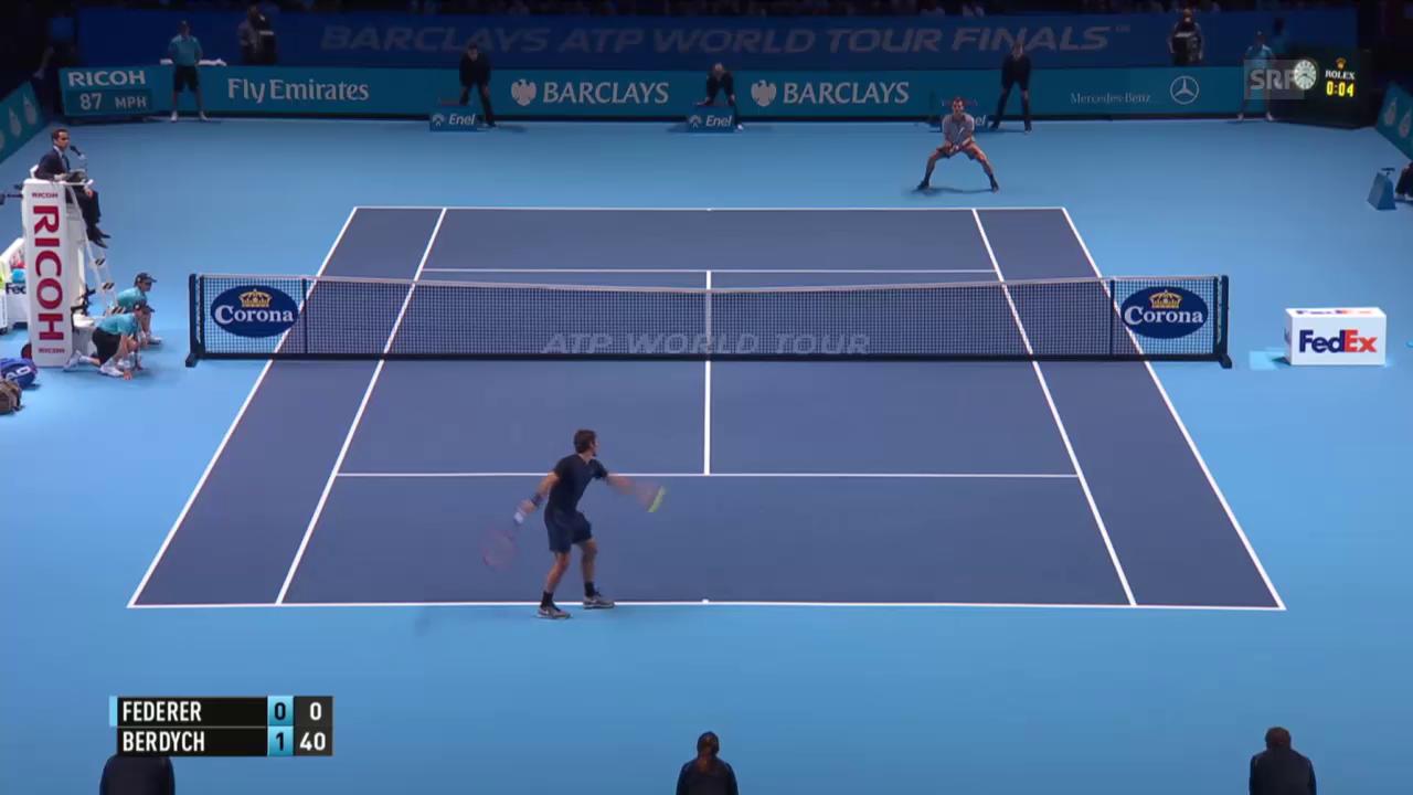 Tennis: ATP Finals, Federer - Berdych