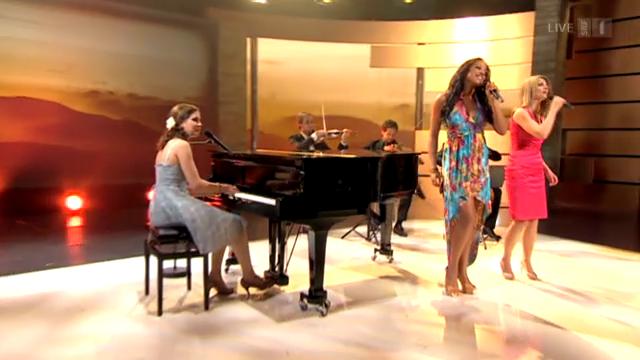 Eliane Müller, Franziska Wigger und Fabienne Louves mit «Heaven»