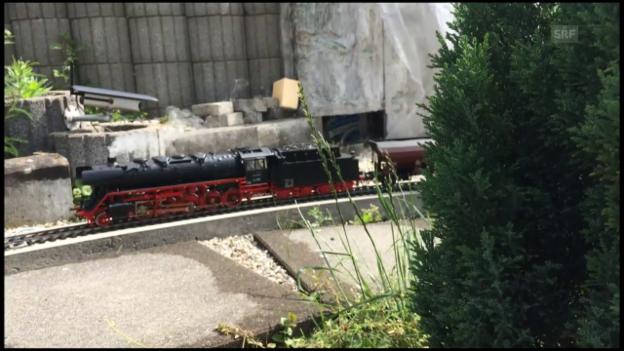 Video «Modelleisenbahnbauer von Bellach» abspielen