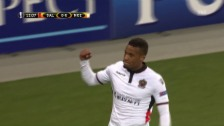 Video «Abwehrfehler ebnet Nizza den Weg zum Sieg in Salzburg» abspielen