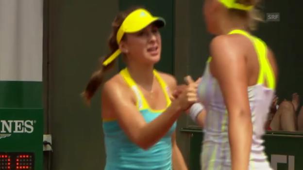 Video «Tennis: Bencic gewinnt bei den Juniorinnen» abspielen