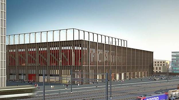 Das neue Fussballstadion soll im Sommer 2616 fertig werden. Ein ehrgeiziges Ziel (10.7.2013)