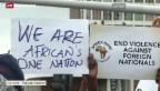 Video «Schwere Ausschreitungen in Südafrika» abspielen
