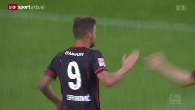 Video «Fussball: Seferovic führt Frankfurt zum Sieg» abspielen