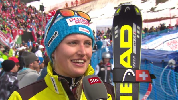 Video «Ski Alpin: Slalom Lenzerheide, Interview Feierabend («sportlive», 15.03.2014)» abspielen