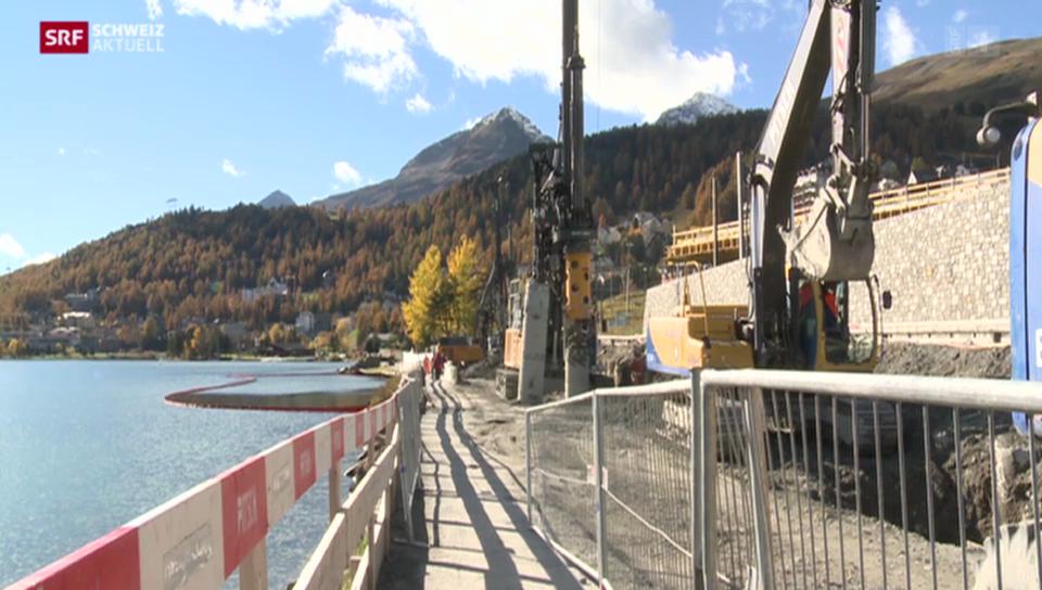 Öl im St. Moritzersee