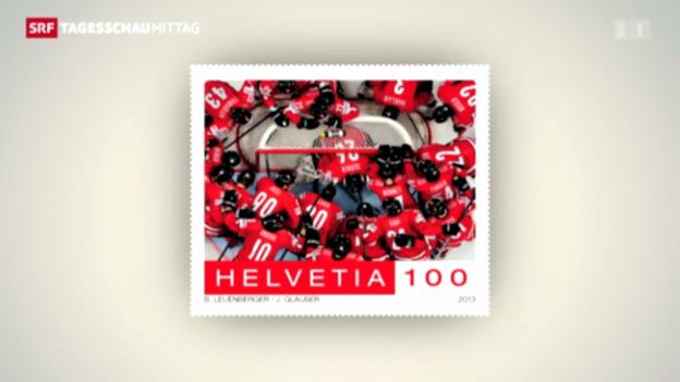 Video «Eishockey: Nati erhält eigene Briefmarke» abspielen