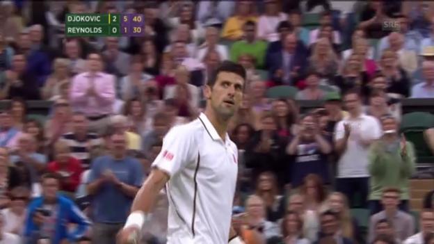 Video «Djokovic - Reynolds: Entscheidende Bälle («sportlive»)» abspielen