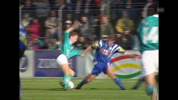 Video «Markus Brunners Rolle bei Luzern - St. Gallen» abspielen