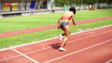 Video «Leichtathletik: Ein 100 m Lauf von Kambundji im Fokus» abspielen