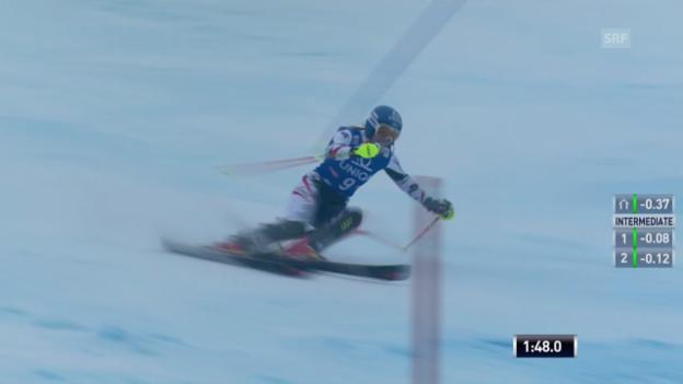 Video «Ski: Weltcup, Slalom Frauen in Lienz» abspielen