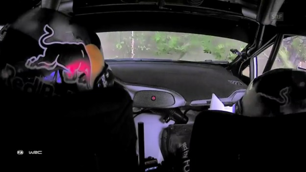 Video «Ogier übersteht Crash unverletzt» abspielen
