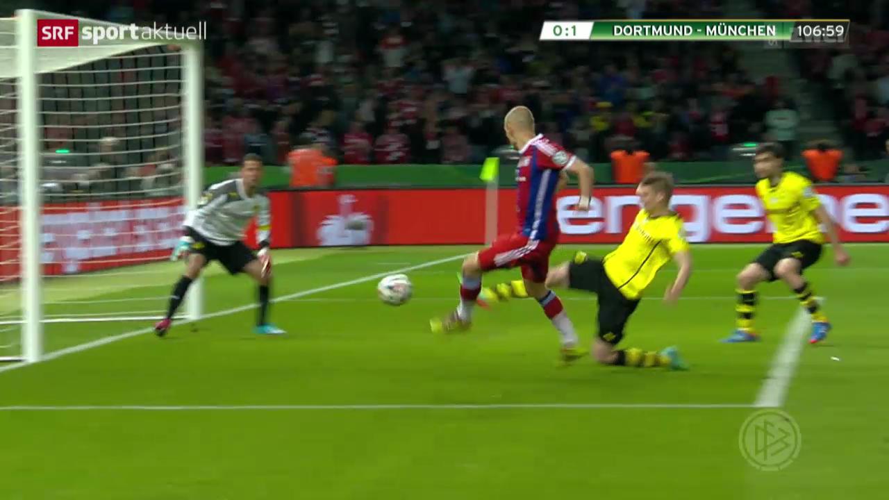 Fussball: DFB-Pokal-Endspiel Bayern - Dortmund