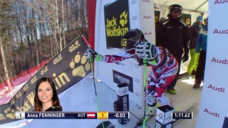 Video «Ski: Fahrt Fenninger 2. Lauf RS Maribor» abspielen