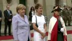 Video «Angela Merkel wird in Bern empfangen» abspielen