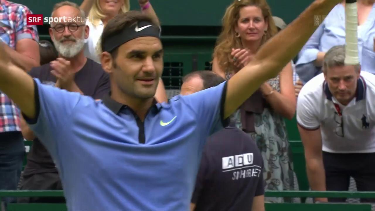 Federer schlägt Zverev in Halle