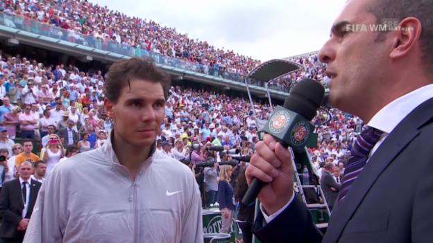 Video «Tennis: Siegerinterview mit Rafael Nadal» abspielen