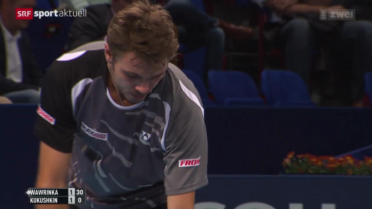 Tennis: Swiss Indoors, Wawrinka - Kukuschkin