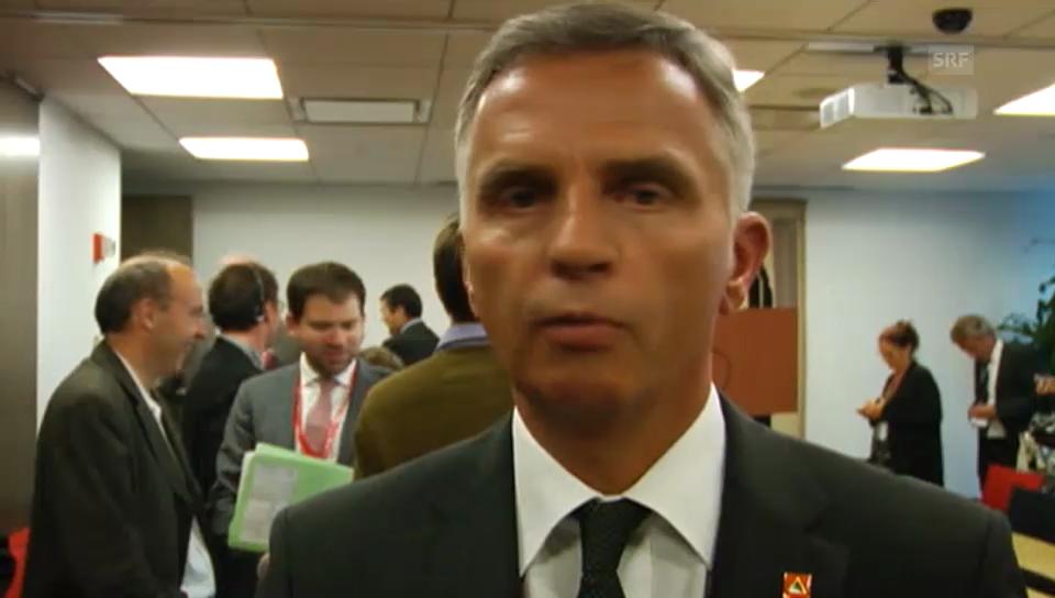 BR Didier Burkhalter im Gespräch (französisch)