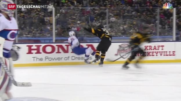 Video «Eishockey: NHL, Winter Classic, Boston-Montreal» abspielen