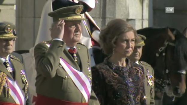 Video «König Juan Carlos feiert seinen Geburtstag» abspielen