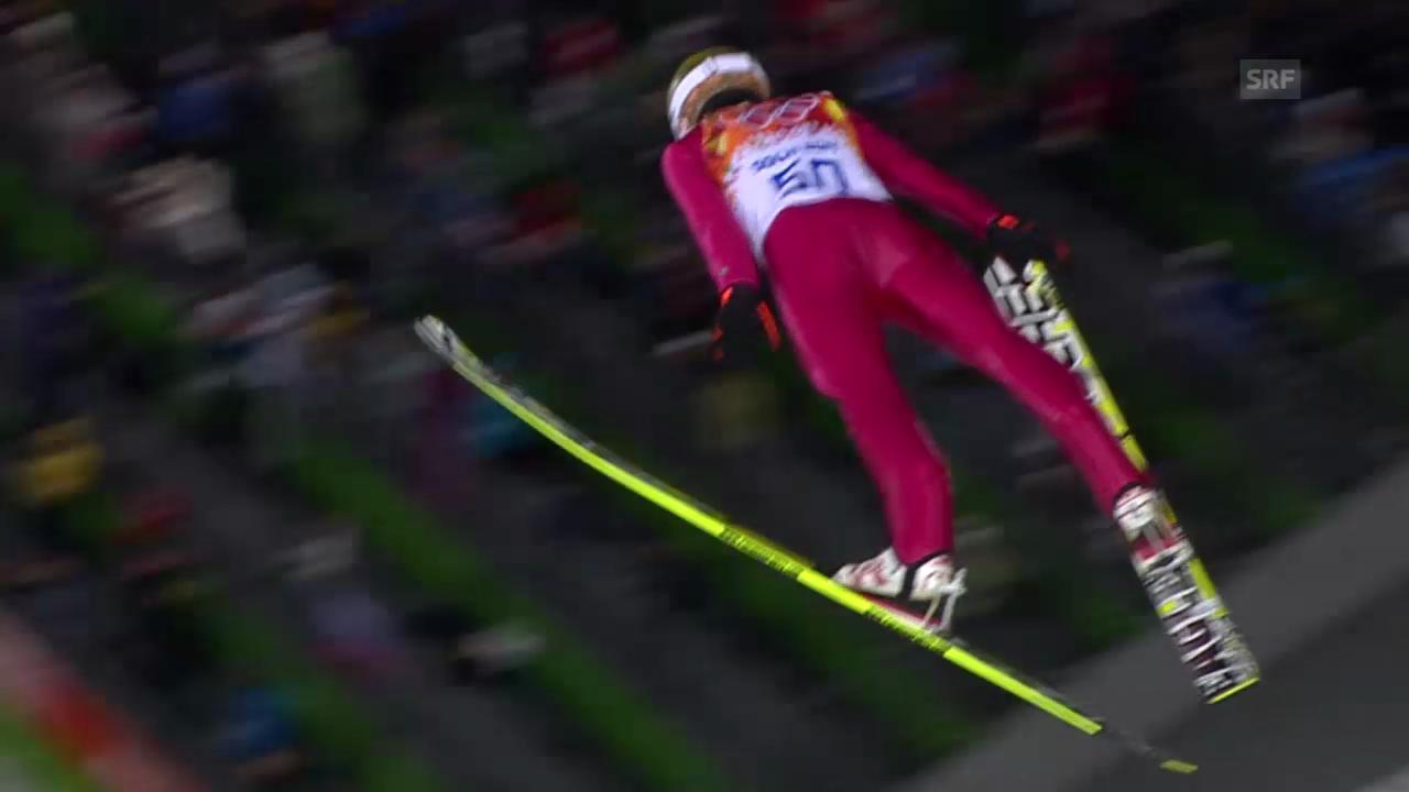 Skispringen: Normalschanze, 1. Sprung Stoch (sotschi direkt, 9.2.2014)