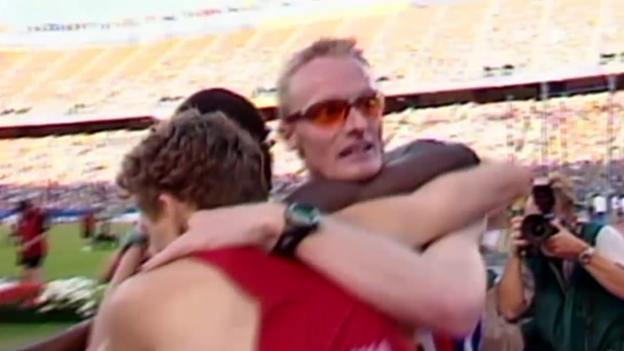 Video «Leichtathletik: WM 2001 in Edmonton, 800 m, André Bucher» abspielen