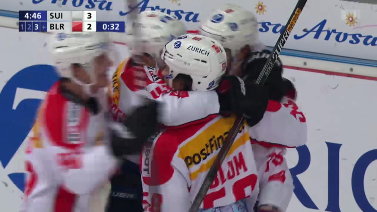 Eishockey: Schweiz - Weissrussland