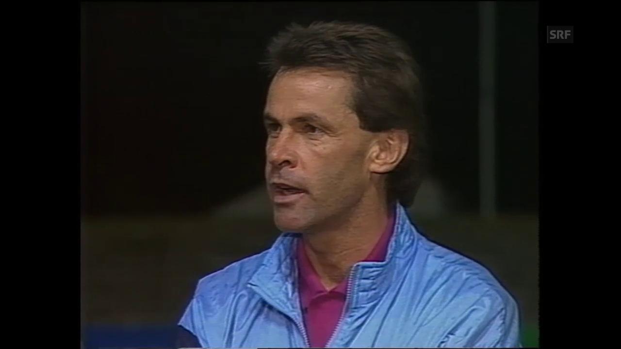 «Sport am Wochenende: Ottmar Hitzfeld beim FC Aarau», 6. September 1987