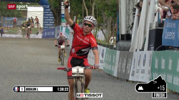 Video «Mountainbike: Cross-Country-Weltcup in Cairns» abspielen
