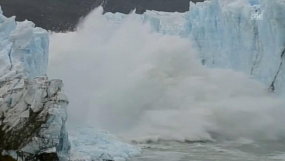 Spektakulärer Gletscher-Abbruch in Argentinien (ohne Ton)