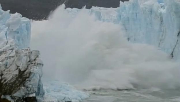 Video «Spektakulärer Gletscher-Abbruch in Argentinien (ohne Ton)» abspielen