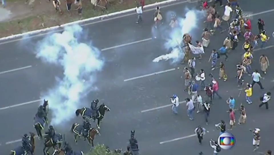 Unruhen in Brasilia