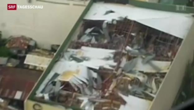Video «Schneise der Verwüstung auf den Philippinen» abspielen