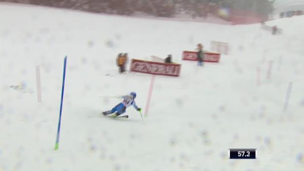 Video «Ski Alpin: Slalom Are, 2. Lauf von Swenn-Larsson («sportlive», 8.3.2014)» abspielen
