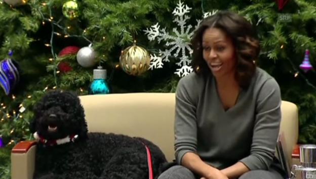 Video «Michelle Obama verrät ihr Weihnachtsgeschenk für Barack Obama» abspielen